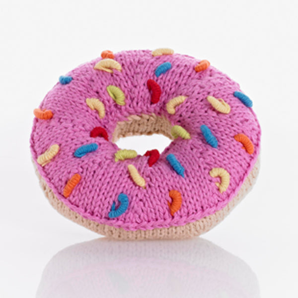 Pebble: Donuts Rattle (Pink)