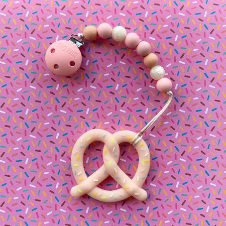 Little Caleb : Pretzel Teether (Pink)