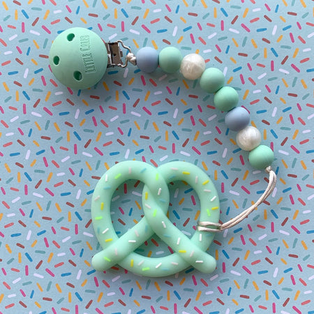 Little Caleb : Pretzel Teether (Mint)