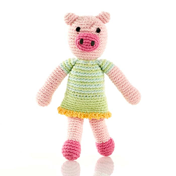 Pebble: Pig Girl Rattle