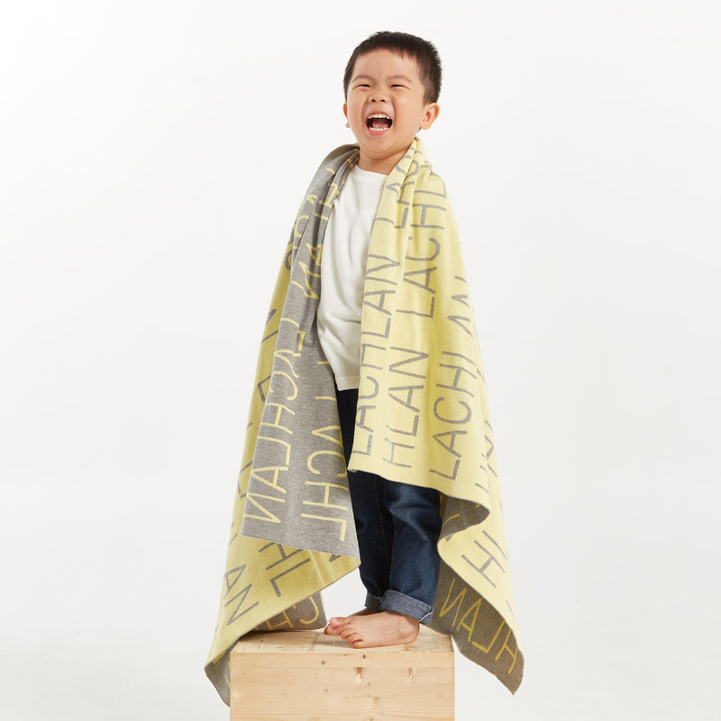 Personalized Blanket for Babies and Kids (Light Yellow Background)