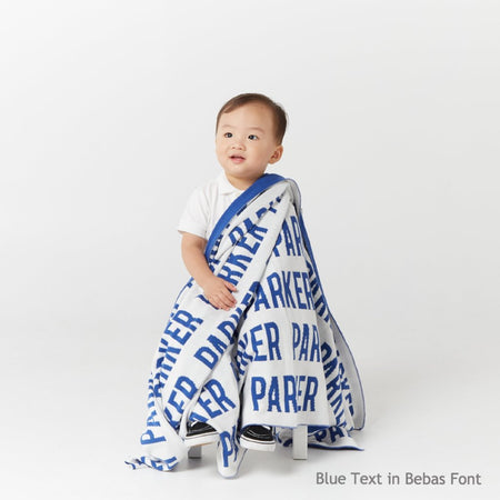 Personalized Blanket for Babies and Kids (White Background)