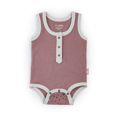 Singlet Onesie - (Twinkly Nights -Pink)