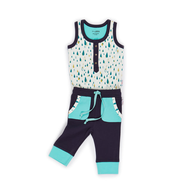 Singlet and Trackpants Set (Pitta Patta - Mint)