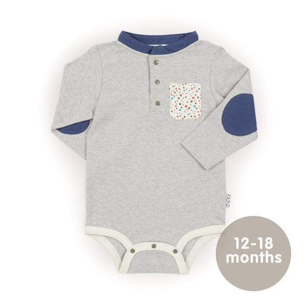 Growing Kit for 3-Month Old Winter Baby Boys - Essential 7-Piece Set (Tiny Dots)