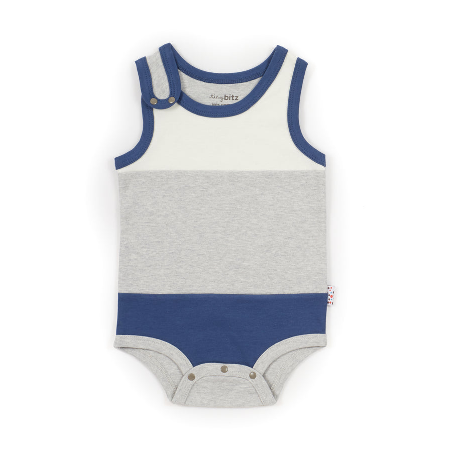 Singlet Onesie (Tiny Dots - Blue)