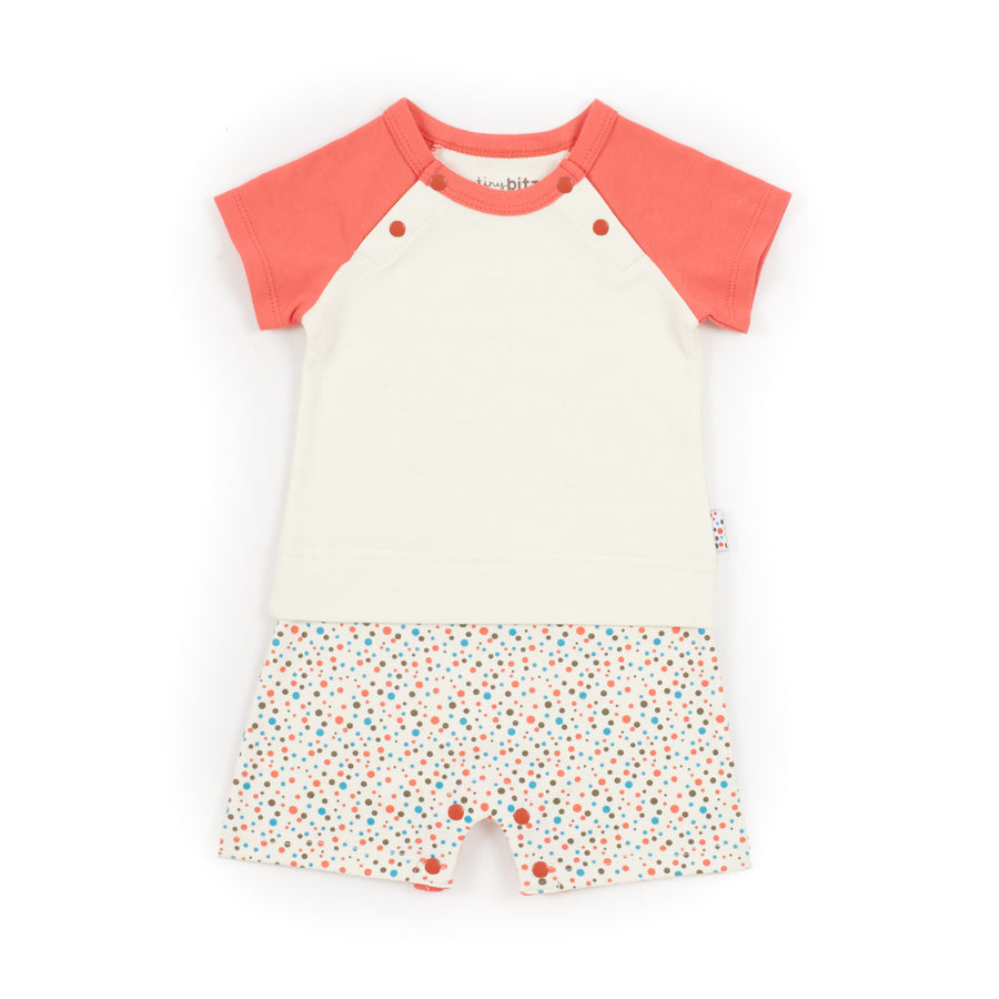 Play-Tee (Tiny Dots - Cream)