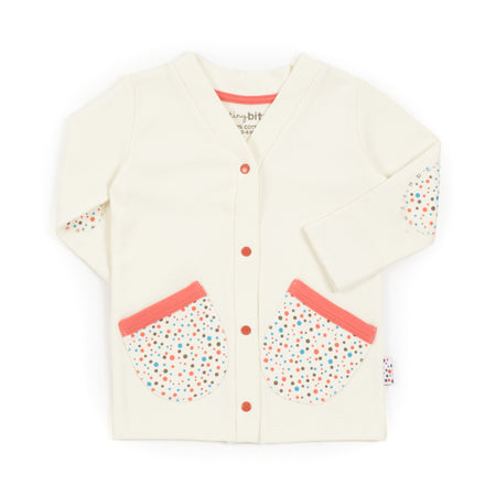 Cardie (Tiny Dots - Cream)