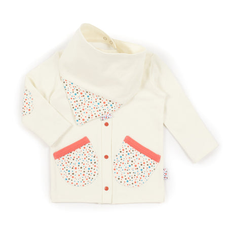 Cardie and Bib Set (Tiny Dots - Cream)