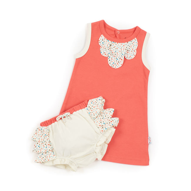 Tee Dress and Bloomers Set (Tiny Dots)