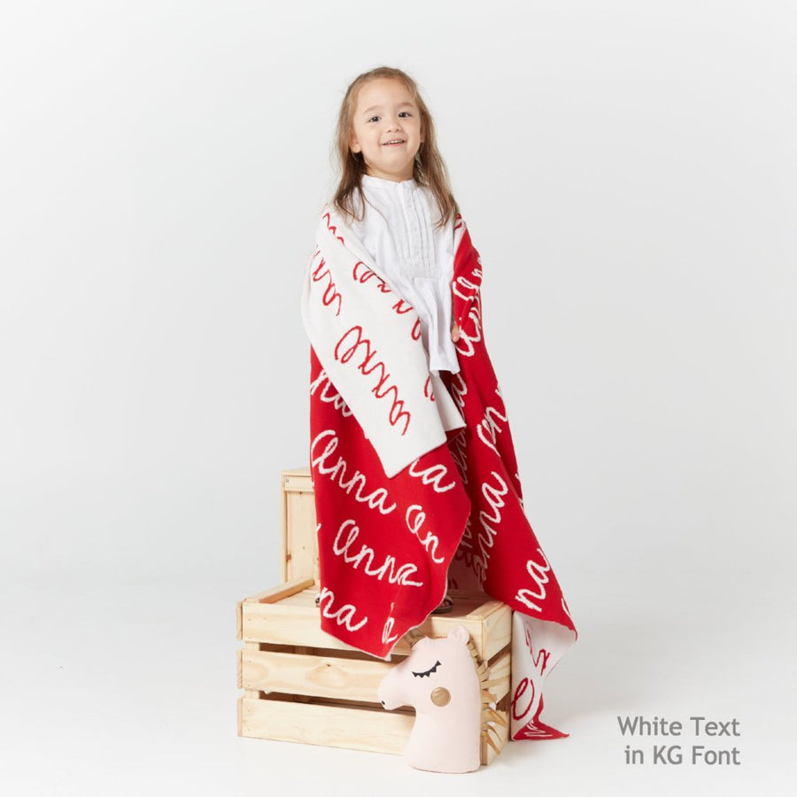 Personalized Blanket (Red Background)