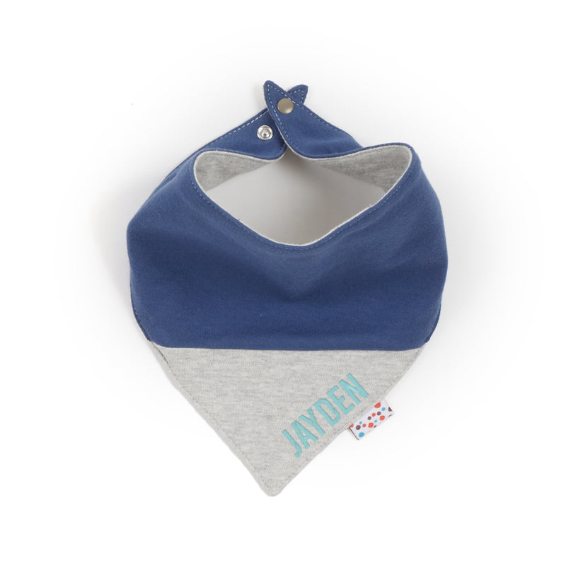 Personalized Neckerchief (Tiny Dots - Grey)