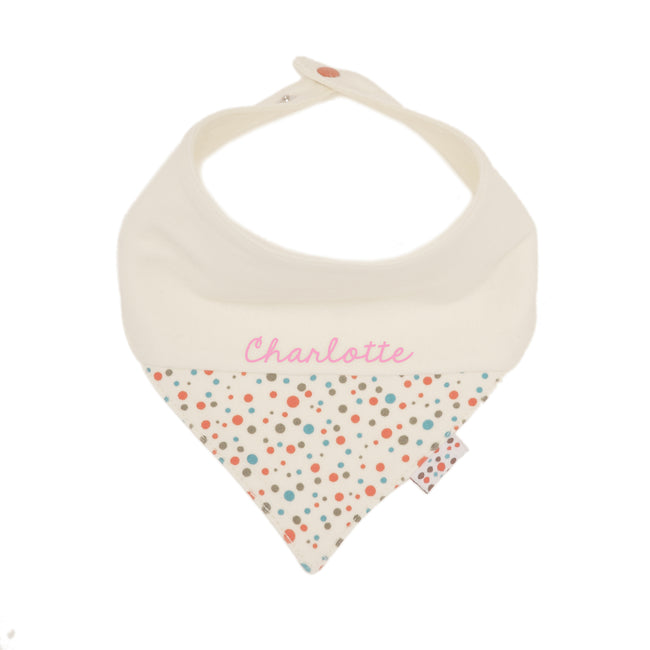Personalized Neckerchief (Tiny Dots - Cream)