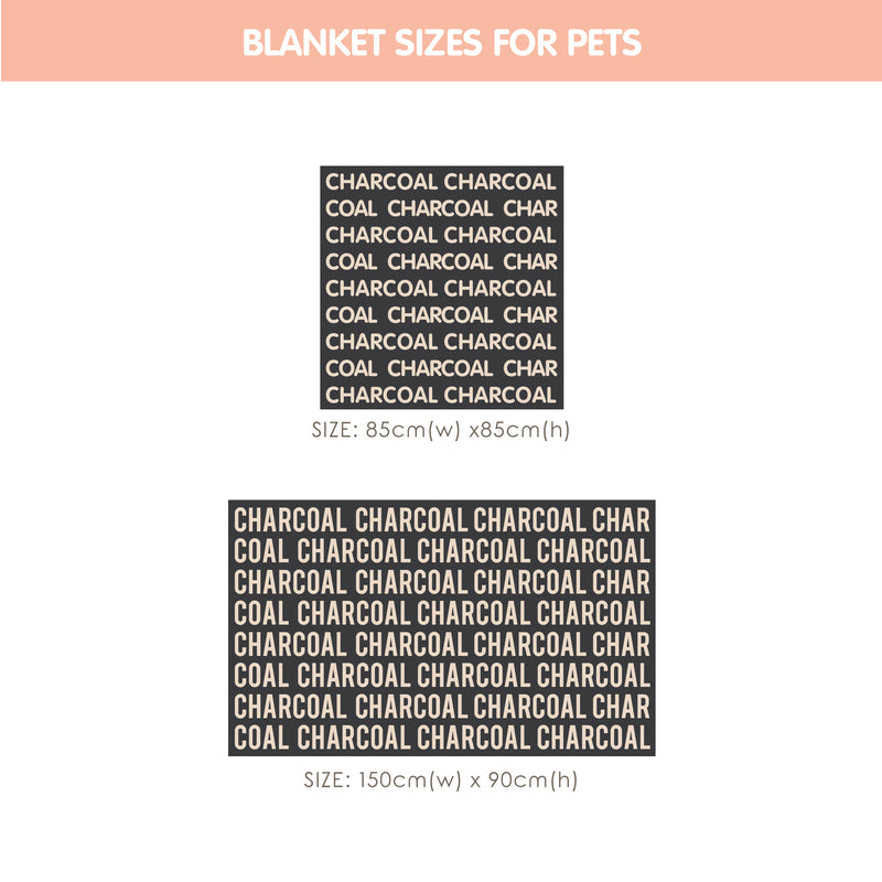 Personalized Blanket for Pets (Ice Blue Background)