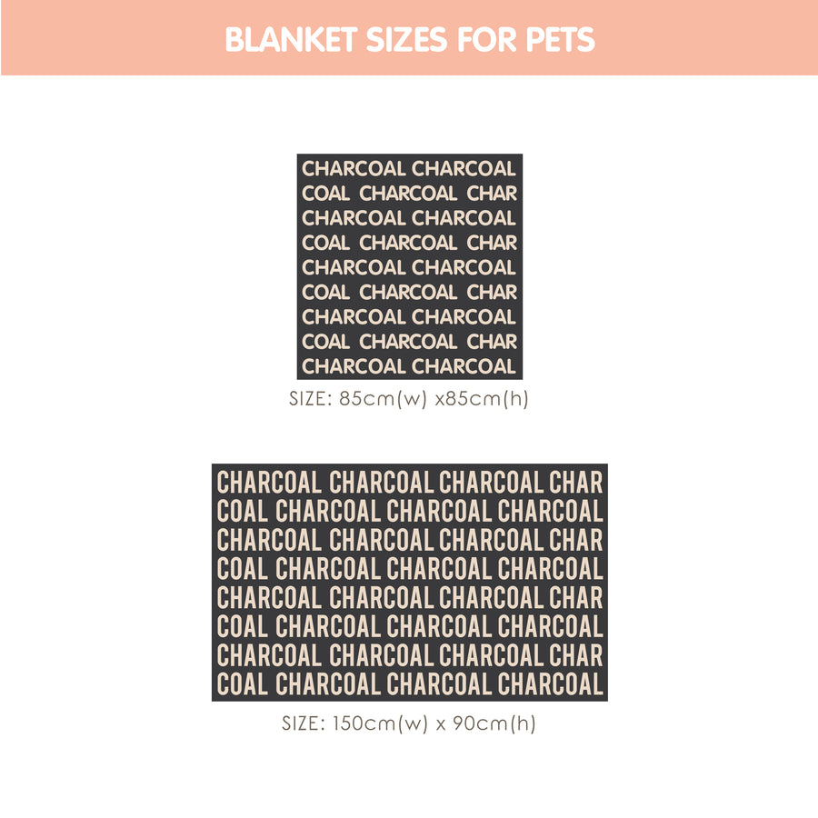 Personalized Blanket for Pets (Charcoal Background)