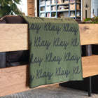 Personalized Blanket for Adults (Army Green Background)