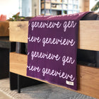 Personalized Blanket for Babies and Kids (Eggplant Background)