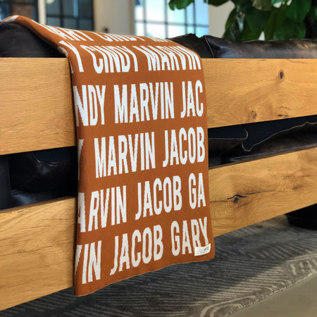 Personalized Blanket for Adults (Rust Background)