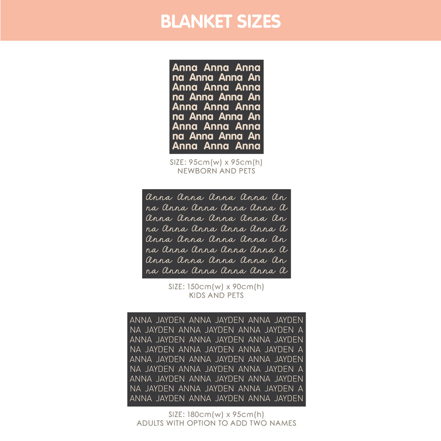 Personalized Blanket for Adults (Camel Background)
