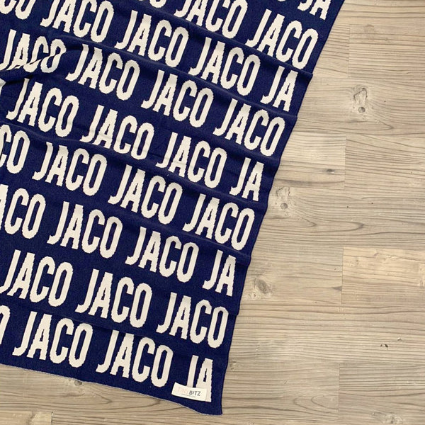 Personalized Blanket for Pets (Navy Background)
