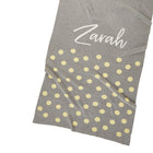 Personalized Blanket for Babies or Kids (Dots on Light Grey Background)