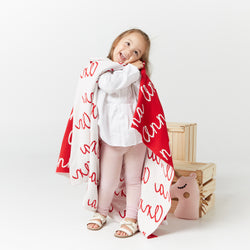 Personalized Blanket for Babies and Kids (Red Background)