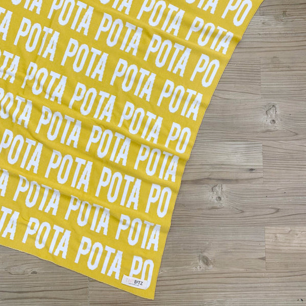 Personalized Blanket for Pets (Mustard Background)