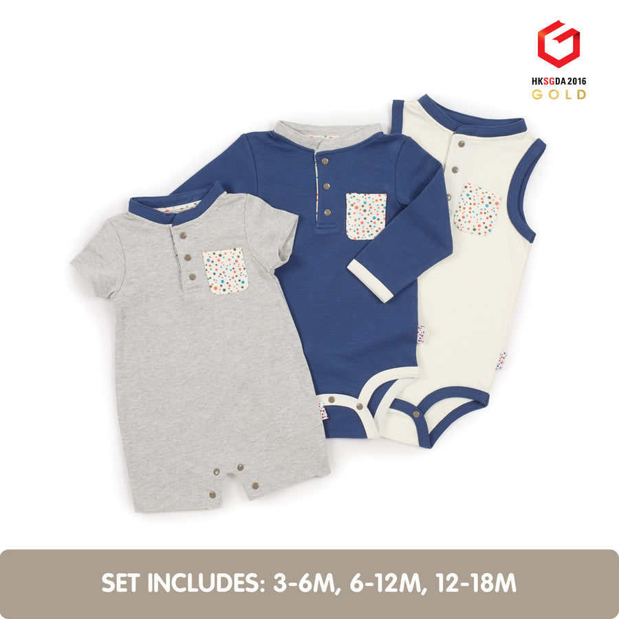 Summer Growing Kit for 3-Month Old Baby Boys (Tiny Dots)