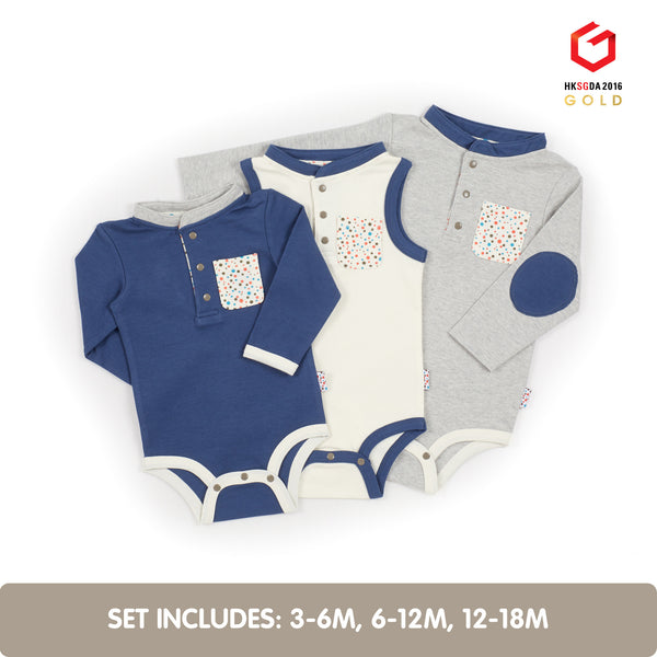 Growing Kit for 3-Month Old Winter Baby Boys (Tiny Dots)