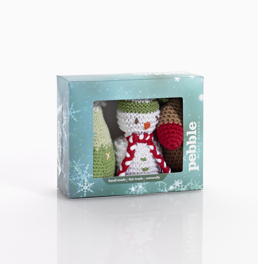 Pebble Christmas Novelty Decorations Set