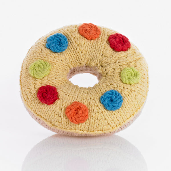 Pebble: Donuts Rattle (Yellow)