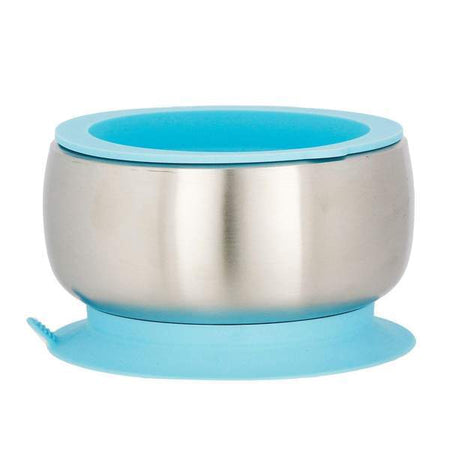 Avanchy: Stainless Steel Suction (Baby Bowl + Air Tight Lid) (blue Colour)