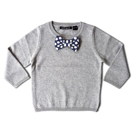 Mini Kardi : Blue Bowtie Sweater