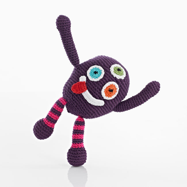 Pebble: Chubby Monster Rattle (Purple)