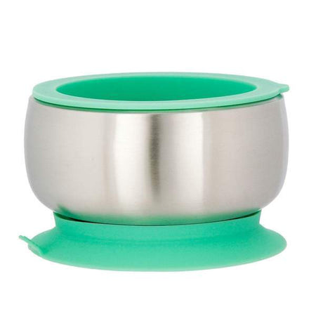 Avanchy: Stainless Steel Suction (Baby Bowl + Air Tight Lid) (green Colour)