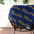 Personalized Blanket for Adults (Blue Background)