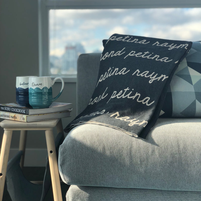 Personalized Blanket for Adults (Charcoal Background)