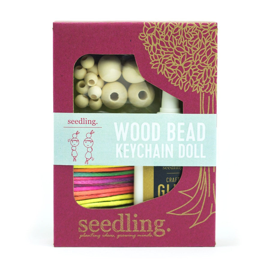 Seedling - Wood Bead Keychain Dolls