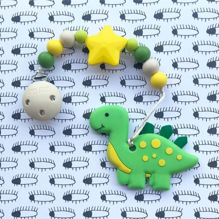 Little Caleb: Cute Dinosaur Teether (Green)