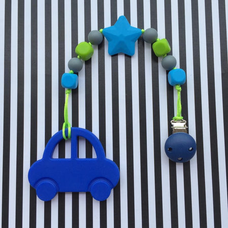 Little Caleb: Mr Bean Car Teether (Blue)