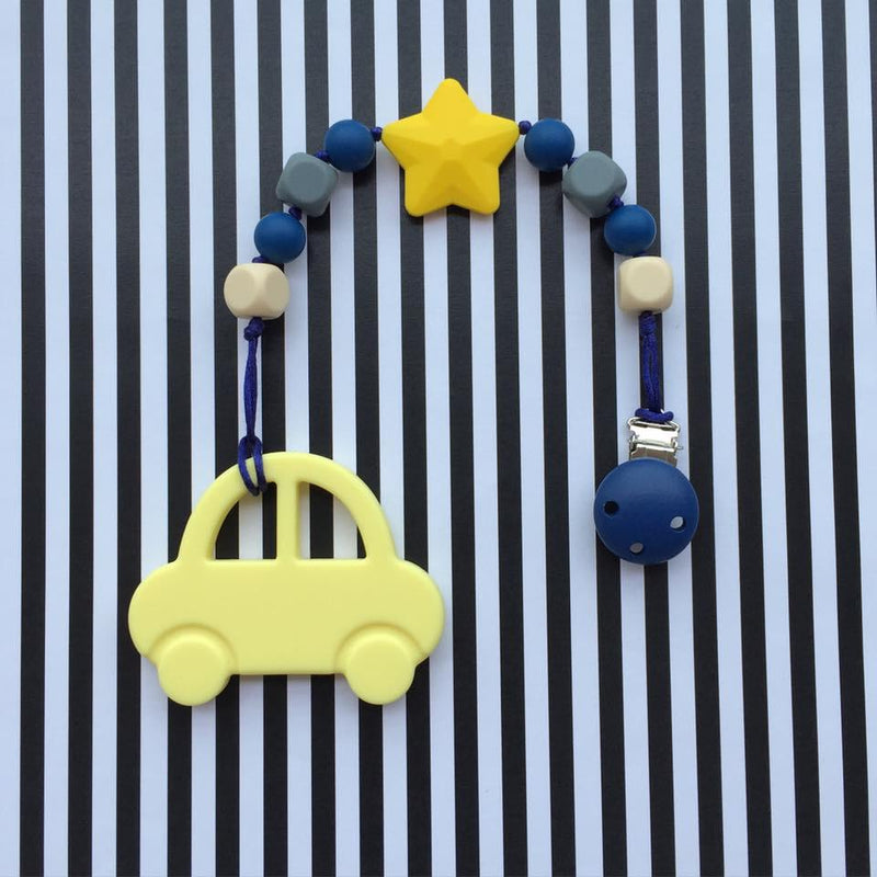 Little Caleb: Mr Bean Car Teether (Yellow)