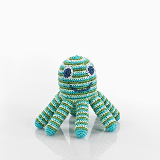 Pebble: Octopus Rattle (Green)