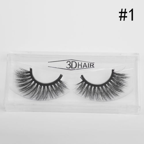 Curly Crisscross False Eyelash Thick Natural Handmade False Eyelash Set
