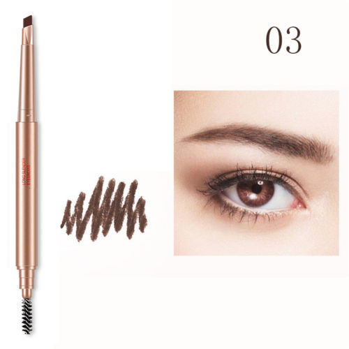 Long Lasting Waterproof Double headed Brush Eyebrow Pencil Cream Pen Makeup