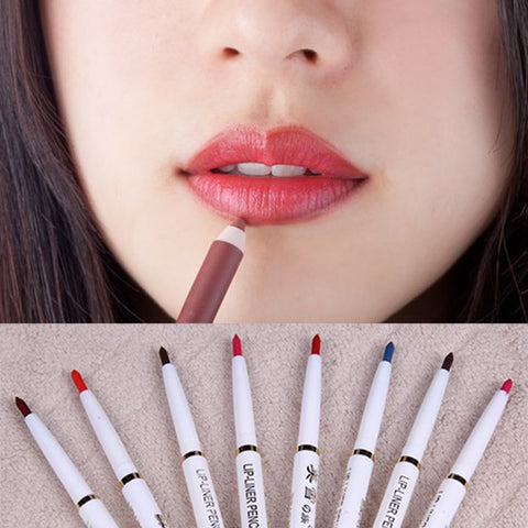 Best Automatic Rotary Long Lasting Natural Makeup Waterproof Lip Liner Pencil