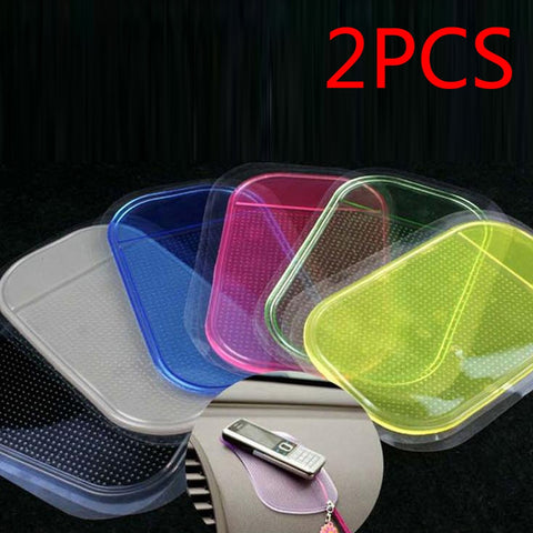 2pcs Styling Sticky Gel Pad Holder Magic Dashboard Silicone Anti Non Slip Mat Car Accessories Car for Gadget Phone