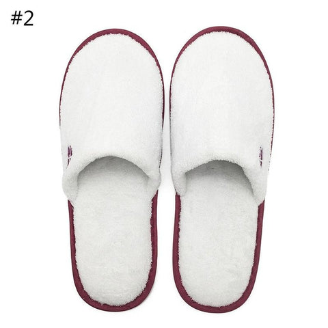 Men Unisex Home Indoor Anti slip Flat Casual Slippers Soft Warm Cotton Shoes