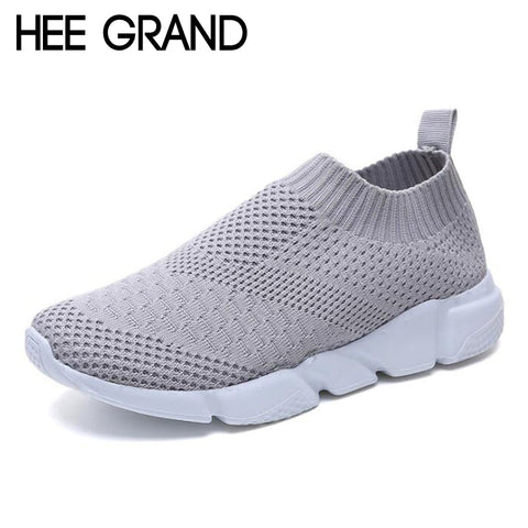 HEE GRAND 2018 Women Air Cushion Shoes Nonslip Training Running Shoes Flats Slip On Breatheable Loafer Mujer Shoes XWD6997