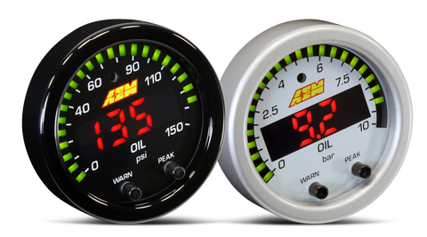 AEM X-Series 150 PSI / 10 BAR Pressure Gauge