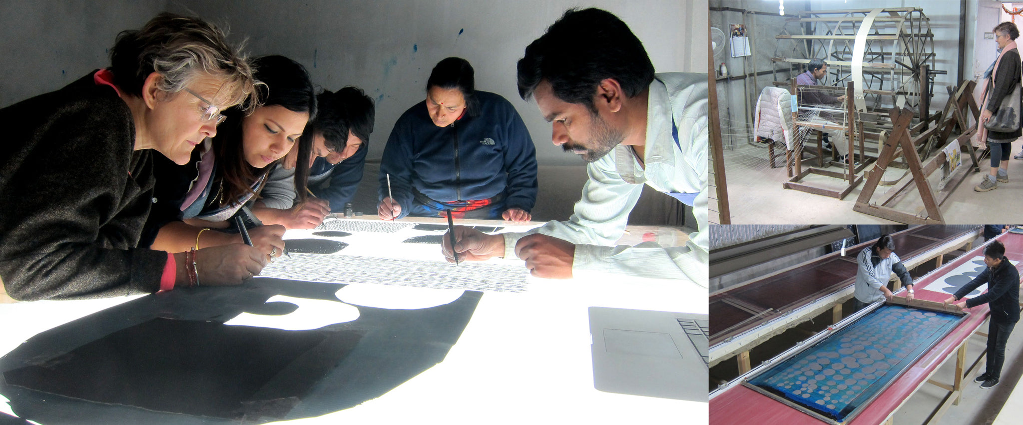 Creating a screen for printing in Nepal